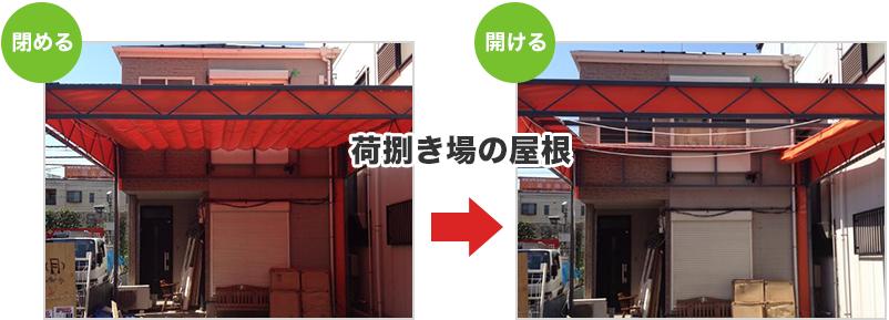 荷捌き場の屋根イメージ