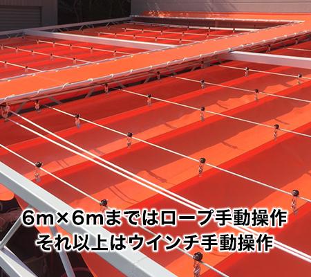 ワイヤー式の開閉テント屋根についてイメージ
