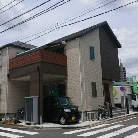 東京都練馬区|電動式風力センサー付オーニングの施工事例(住宅)