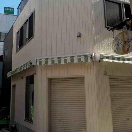 東京都杉並区|電動式オーニングテントの施工事例(店舗・軒先)