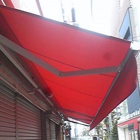 埼玉県新座市 電動式オーニングテントの施工事例(店舗・軒先)