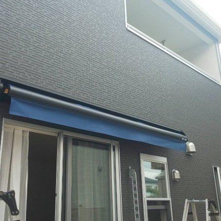 埼玉県本庄市 手動式オーニングテントの施工事例(住宅)