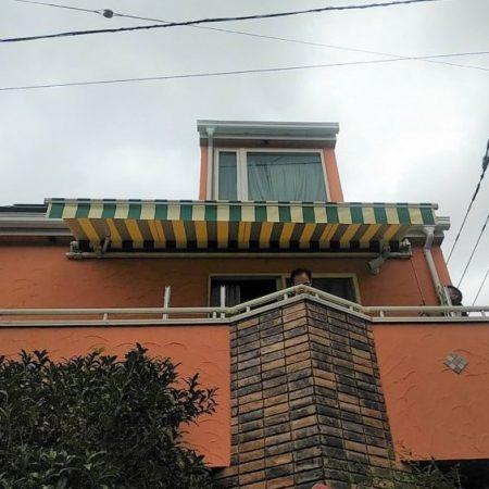 東京都豊島区|オーニングテント生地張替えの施工事例(住宅)