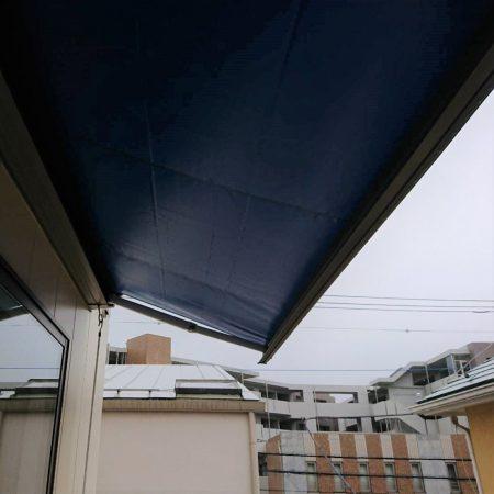 神奈川県横浜市|オーニングテント生地張替えの施工事例(住宅)