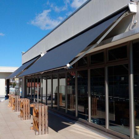 愛知県名古屋市|オーニングテント生地張替えの施工事例(飲食店)