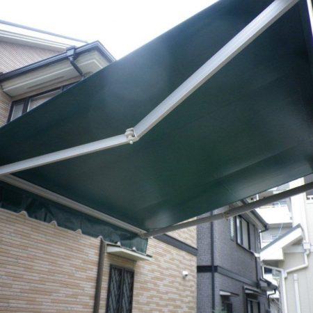 兵庫県川西市|オーニングテント生地張替えの施工事例(住宅)