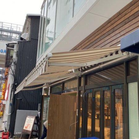東京都武蔵野市|手動式オーニングテントの施工事例(飲食店)
