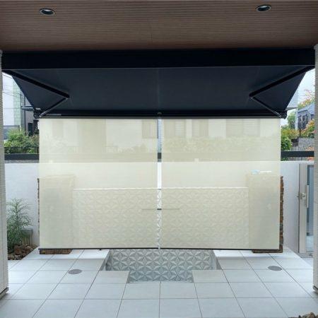 神奈川県横浜市|電動式オーニングテントの施工事例(住宅)