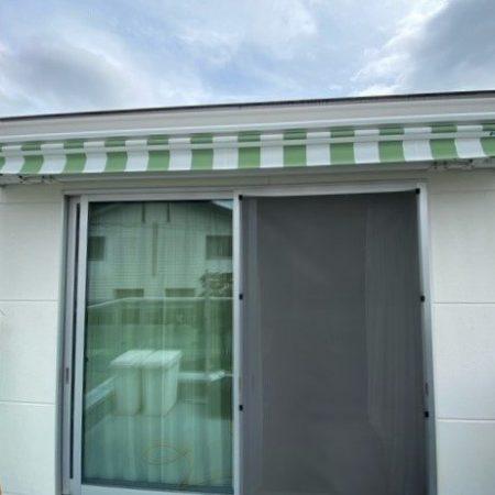 神奈川県横浜市 振動センサー付きオーニングテントの施工事例(住宅)