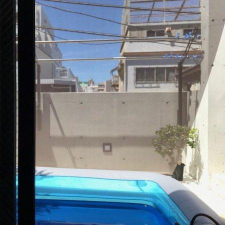 東京都新宿区|屋外用日よけシェードの施工事例(住宅)