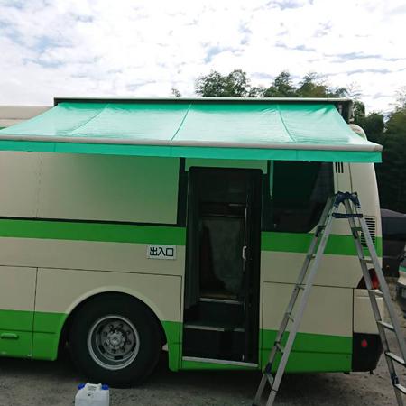 千葉県柏市|オーニングテント生地張替えの施工事例(レントゲン車)