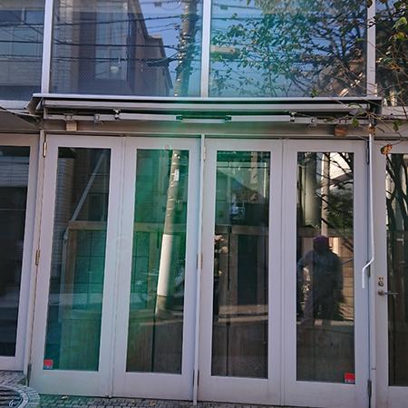 東京都渋谷区|手動式オーニングテント生地張替えの施工事例(事務所)