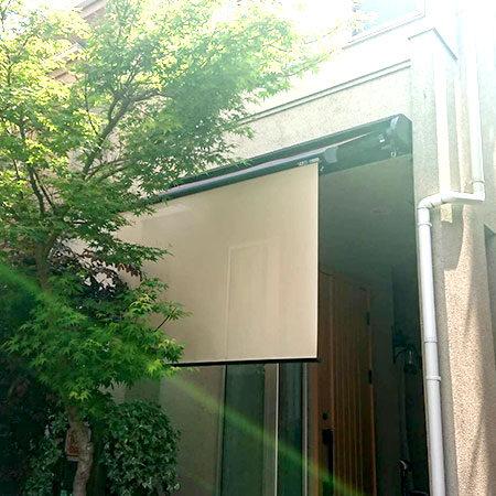 東京都練馬区|手動式オーニングテントの施工事例(住宅)