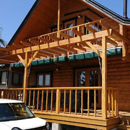 千葉県館山市中 手動式オーニングテントの施工事例(住宅)