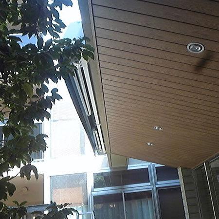東京都世田谷区 手動式オーニングテントの施工事例(施設)